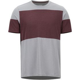 Marmot Gualala Point t-shirt Heren, grey storm/burgundy